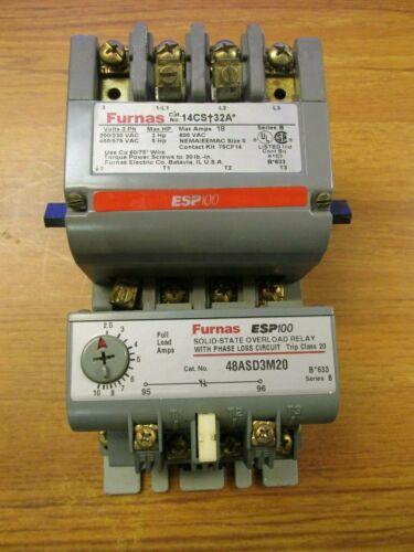 Furnas Motor Starter 3PH, Max Amp 18, 600V, Cat# 14CST32A ..  ZK-37