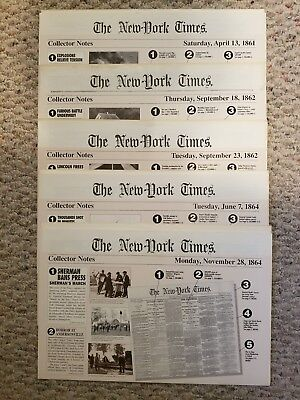 Here are (5) New York  Times ..reprints from 1861,1862, and 1864