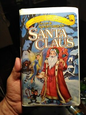 ~THE LIFE & ADVENTURES OF SANTA CLAUS~XMAS~ANIMATED VHS~TESTED~VG~HAL HOLBROOK~