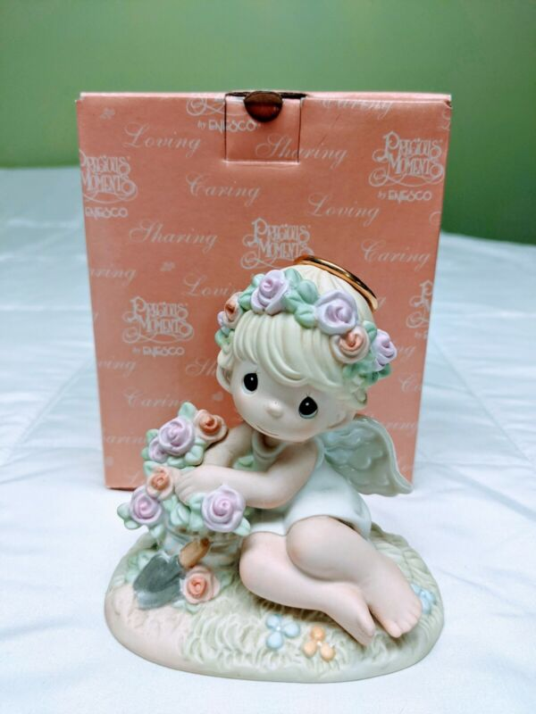 Precious Moments Figurine - Humble Prayers Make Hearts Bloom #114029: Pre-Owned