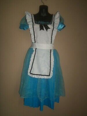 Blue Fairy Costumes (LEG AVENUE ALICE WONDERLAND BLUE WHITE FAIRY TALE HALLOWEEN COSTUME DRESS SIZE)