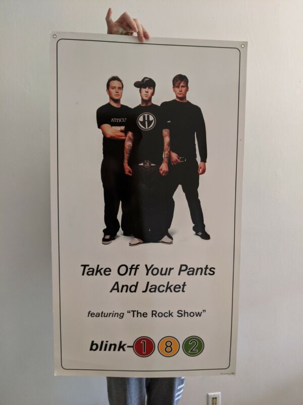 Blink-182 RECORD STORE DISPLAY 2002 Take Off Your Pants 2 sided promo poster