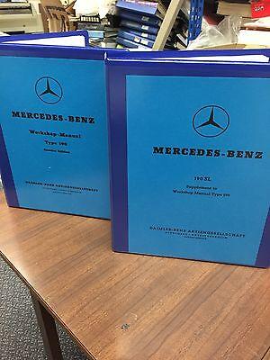 Mercedes 190 SL Ponton Workshop Instruction Manual Service Repair Technical