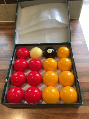 ARAMITH  POOL BALLS, PREMIER REDS and YELLOW