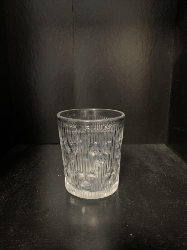 Flint Glass Tumbler, EAPG Fine Rib with Cut Ovals.