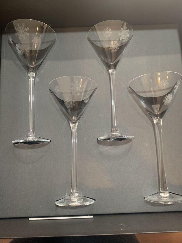 Orrefors Sno Malin Lindahal Martini Glasses Set Of 4