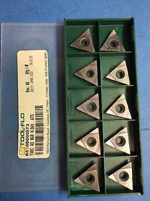 Tool Flo Tnmc 43 Ngr W.060 Carbide Threading Insert 10 Pieces L43