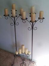 3 Vintage wrought iron candelabra with bonus 15 FREE candles Ryde Ryde Area Preview