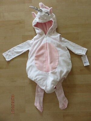 Carters Little Girl Unicorn Halloween Costume Infant 12 months New 3 Piece Cute