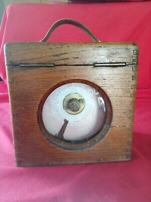 Vintage oak-cased 'Coulet Excelsior' racing pigeon clock TIMING CLOCK