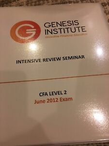 CFA level 2 intensive review seminar