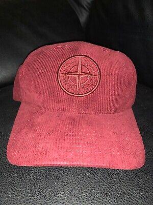 Stone Island Maroon Corduroy Hat Cap Worn