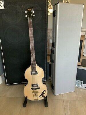 Hofner Gold Label 500/1 Violin Beatle Bass Natural Zebrawood Back & Sides 1 of 6