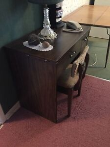 Desk converted from sewing machine