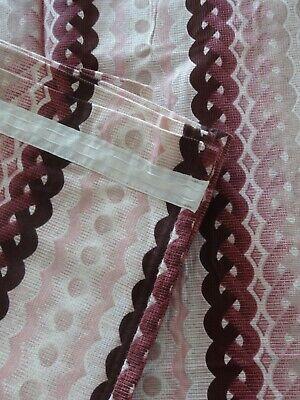 "Pair of Vintage/Retro Geometric Design Curtains 60s/70's 66""W x 90""L"