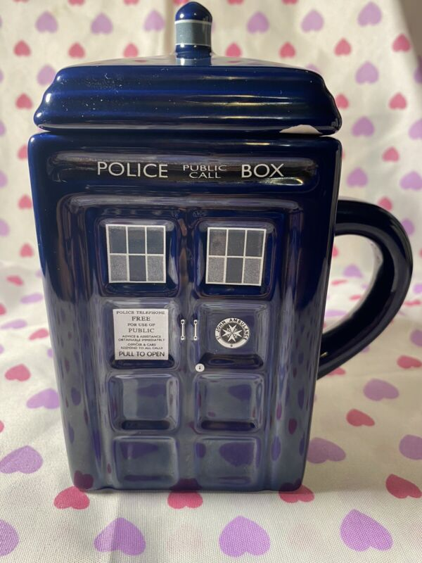 Doctor Who Police Public Call Box Ceramic Mug With Lid Dr87 Zeon BBC