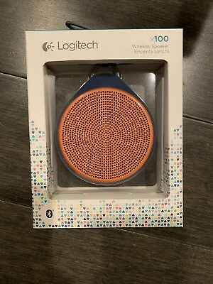 Logitech x100 Bluetooth Speaker Orange Blue segunda mano  Embacar hacia Mexico