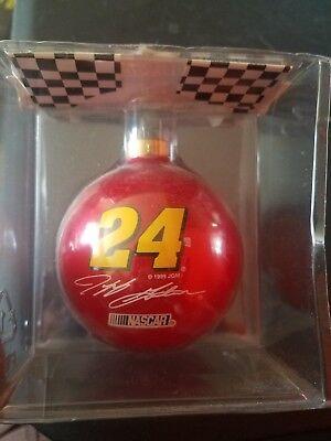 Jeff Gordon Race Car Driver (NASCAR Jeff Gordon Glass Ball Christmas Ornament # 24  race car)