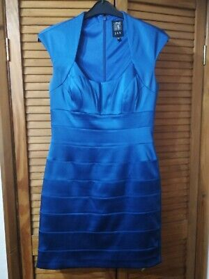 Quality Blue Silky Dress from Jax. Size 10. Only worn once!