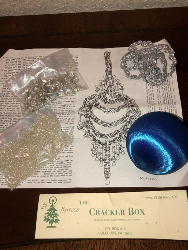 VTG The Cracker Box~ MOROCCO ~Ornament Kit~Open But Complete W/ Instructions