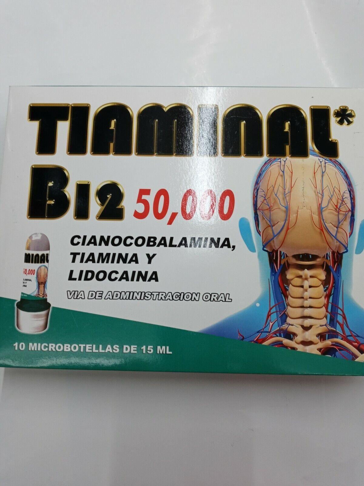 TIAMINAL B12 50,000 CIANOCOBALAMINA