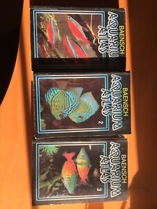 Baensch aquarium atlas Vol 1,2,3