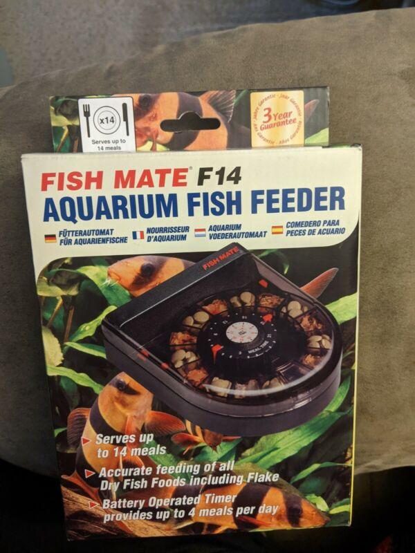 Fish Mate F14 Aquarium Fish Feeder BRAND NEW Auto automatic aquarium food tank