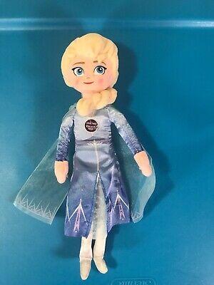 "Walt Disney Frozen 2 TALKING ELSA PRINCESS 9"" Plush STUFFED DOLL Toy - Works!"