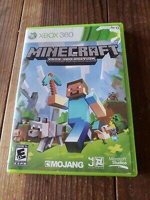 Minecraft (Microsoft Xbox 360, 2013) **NO MANUAL** **FREE SHIPPING**