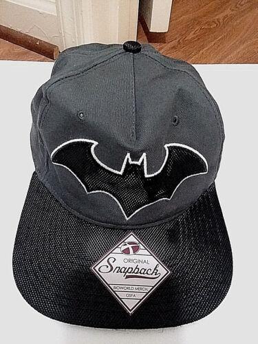 """""""BATMAN"""" Gray Baseball Cap With Batman Logo DC Comics #RN115665 - New"""