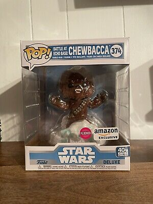 Funko Pop Deluxe Star Wars: Battle At Echo Base CHEWBACCA #374 Flocked NEW
