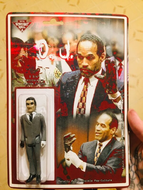 O. J. Simpson Football 3.75 Handmade Figure 1990s Murder Trial LA