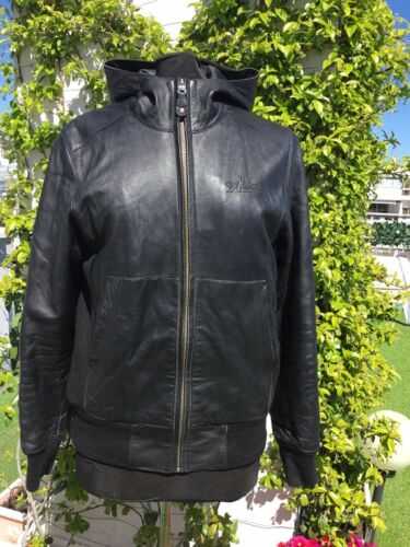 Superbe blouson cuir noir avirex s authentique