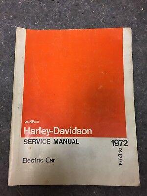 1963-1972 AMF Harley-Davidson Service Manual Electric Car 99494-72
