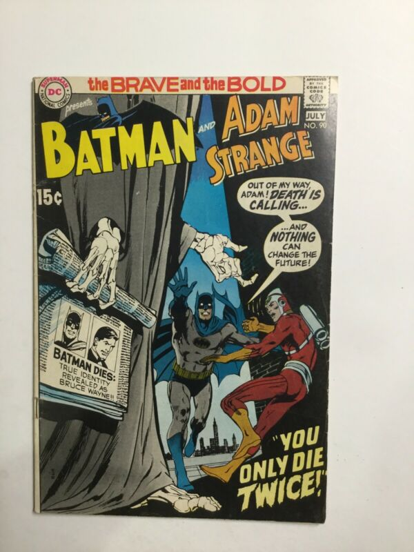 Brave And The Bold 90 Very Fine+ Vf+ 8.5 Dc Comics