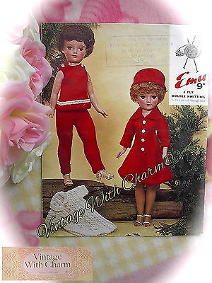 Vintage Knitting Pattern 2 Sets Outdoor Dolls Clothes For 20 Inch Teenage Dolls
