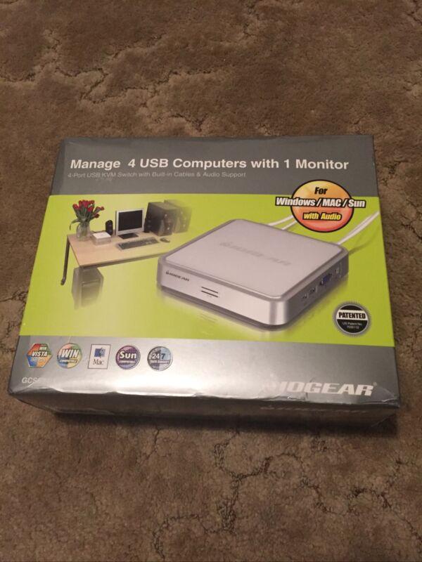 New IOGEAR 4-Port VGA USB Control 4 Computers GCS634U