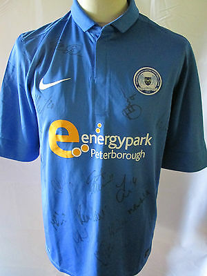 Peterborough United 2012-2013 Squad Signed Football Shirt with our COA /31977 image