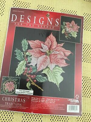 DESIGNS FOR THE NEEDLE CHRISTMAS TRADITIONS 309845 POINSETTIA SEALED