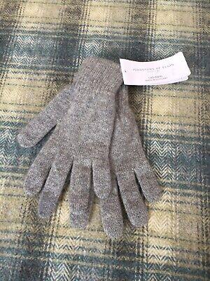Johnstons Of Elgin Unisex Pure Cashmere Gloves Soft Warm Grey Men's Ladies