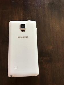 SAMSUNG GALAXY NOTE 4 (WHITE) - EXCELLENT CONDITION Salisbury Salisbury Area Preview