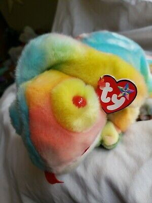 - MWMTs Stuffed Animal Toy RAINBOW the Chameleon 12.5 inch TY Beanie Buddy
