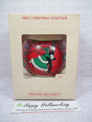Hallmark 1981 First Christmas Together Glass Ornament Ball  NEW
