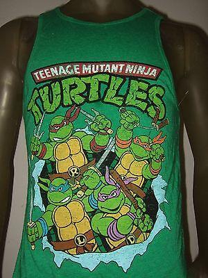 New Men's Teenage Mutant Ninja Turtles TMNT Nickelodeon Cartoon Tank Top - Tmnt Tank Top