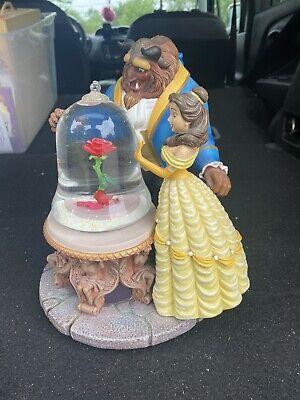 1991 Disney Beauty & the Beast Enchanted Rose Musical Snowglobe. Song Still Play