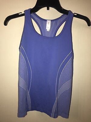 Gap Fit Womens Purple Racerback Athletic Tank Top Stretch Work Out S Small