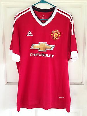 MANCHESTER UNITED FC ADIDAS HOME JERSEY 2015 2016 FOOTBALL SOCCER  MENS XL image