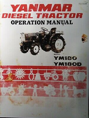 Yanmar Ym180 Ym180d Diesel 4x4 2wd Farm Compact Tractor Owner Parts Manual