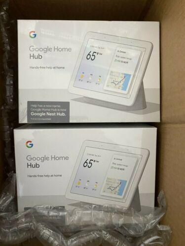 Google Nest Home Hub (2-Pack) Chalk New
