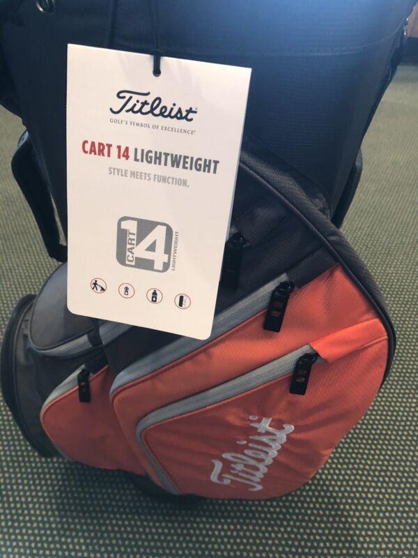 Titleist Golf Cart 14 Lightweight Graphite/Flame/Gray Style# TB20CT6 262